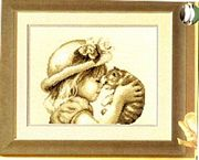 I Love You Kitty - Vervaco Cross Stitch Kit