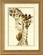 Giraffe Family - Vervaco Cross Stitch Kit