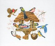 Anchor Bird Table Cross Stitch Kit