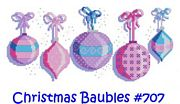 Christmas Baubles - Cinnamon Cat Cross Stitch Kit