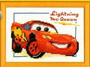 Vervaco Lightning McQueen Cross Stitch Kit