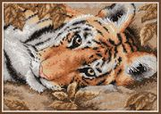 Dimensions Beguiling Tiger Cross Stitch Kit