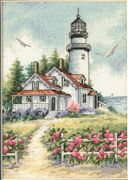Dimensions Scenic Lighthouse Cross Stitch Kit