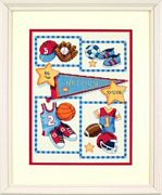 Birth Record Little Sports - Dimensions Cross Stitch Kit