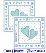 Cinnamon Cat Two Hearts - Silver Wedding Sampler Charts