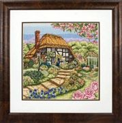 Anchor Rose Cottage Cross Stitch Kit