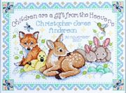 Woodland Baby Sampler - Design Works Crafts Cross Stitch Kit