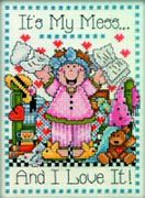 Design Works Crafts My Mess Cross Stitch Kit