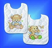 Design Works Crafts Baby Bears Bibs (2) Cross Stitch Kit