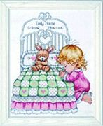Design Works Crafts Bedtime Prayer Girl Sampler Birth Sampler Cross Stitch Kit