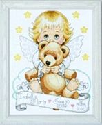 Design Works Crafts Angel Sampler Birth Sampler Cross Stitch Kit