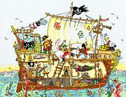 Bothy Threads Pirate Ship Cross Stitch Kit