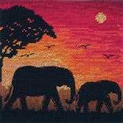 Elephant Silhouette - Maia Cross Stitch Kit