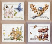 Lanarte Four Seasons Cross Stitch Kit