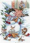 Dimensions Snowman  and  Friends Cross Stitch Kit
