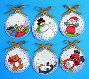 Design Works Crafts Bubbles Ornaments Christmas Cross Stitch Kit