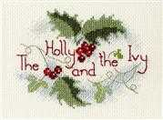 Derwentwater Designs The Holly and the Ivy Christmas Card Making Cross Stitch Kit
