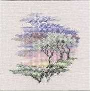 Derwentwater Designs Frosty Trees Cross Stitch Kit