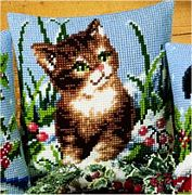 Winter Scene Kitten - Vervaco Cross Stitch Kit
