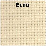 DMC 16 count Aida Ecru Small Fabric