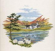 Derwentwater Designs Lakeside Farm Cross Stitch Kit