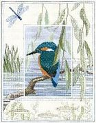 Derwentwater Designs Kingfisher Cross Stitch Kit
