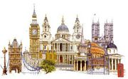 Thea Gouverneur London Cross Stitch Kit