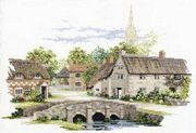 Wiltshire Village - 18 count - Derwentwater Designs Cross Stitch Kit
