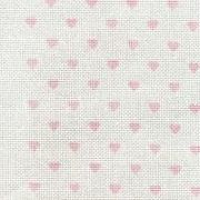 DMC 14 count Aida Pink Hearts Fabric