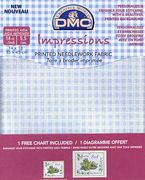 DMC 14 count Aida Blue Checks Fabric