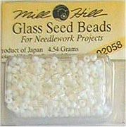 Mill Hill Seed Beads 02058 Crayon White