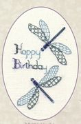 Derwentwater Designs Dragonfly Birthday Cross Stitch Kit