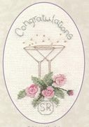 Derwentwater Designs Roses and Champagne Wedding Sampler Cross Stitch Kit