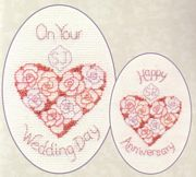 Derwentwater Designs Wedding Day or Anniversary Wedding Sampler Cross Stitch Kit