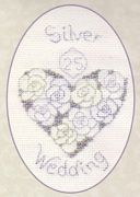Silver or Diamond Wedding - Derwentwater Designs Cross Stitch Kit