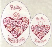 Ruby Wedding or Valentine - Derwentwater Designs Cross Stitch Kit