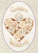 Derwentwater Designs Golden Wedding Cross Stitch Kit
