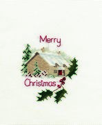 Derwentwater Designs Christmas Cottage Christmas Card Making Cross Stitch Kit