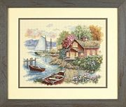 Peaceful Lake House - Dimensions Cross Stitch Kit