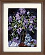 Dimensions Tulips and Lilacs Tapestry Kit