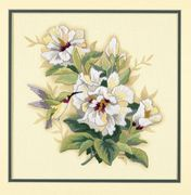 Hibiscus Floral - Dimensions Embroidery Kit