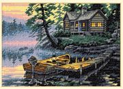 Morning Lake - Dimensions Cross Stitch Kit