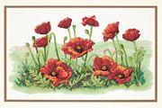 Dimensions Field of Poppies Cross Stitch Kit