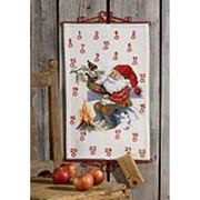 Permin Santa and Birds Countdown Christmas Cross Stitch Kit