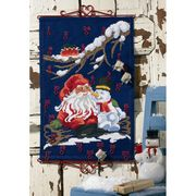 Permin Santa and Snowman Countdown Christmas Cross Stitch Kit