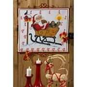 Permin Toboggan Santa Countdown Christmas Cross Stitch Kit