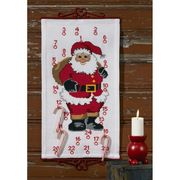 Father Christmas Countdown - Permin Cross Stitch Kit