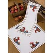 Santa and Sleigh Table Runner - Permin Cross Stitch Kit