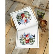 Santa House Table Runner - Permin Cross Stitch Kit