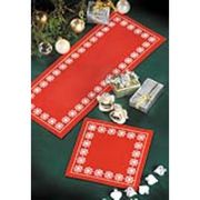 Snowflake Table Runner - Permin Cross Stitch Kit